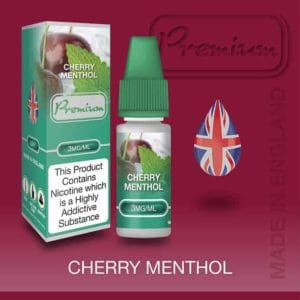 cherry menthol 3mg 30ml vaping e liquid