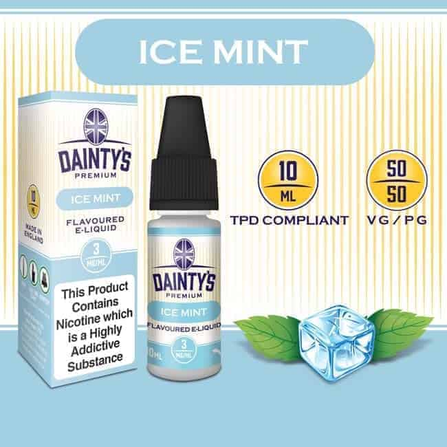 R Dainty's Premium 10ml Ice Mint flavoured Vaping e liquid