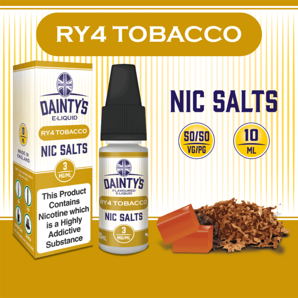 Daintys RY4 tobacco 10m flavour nic salts