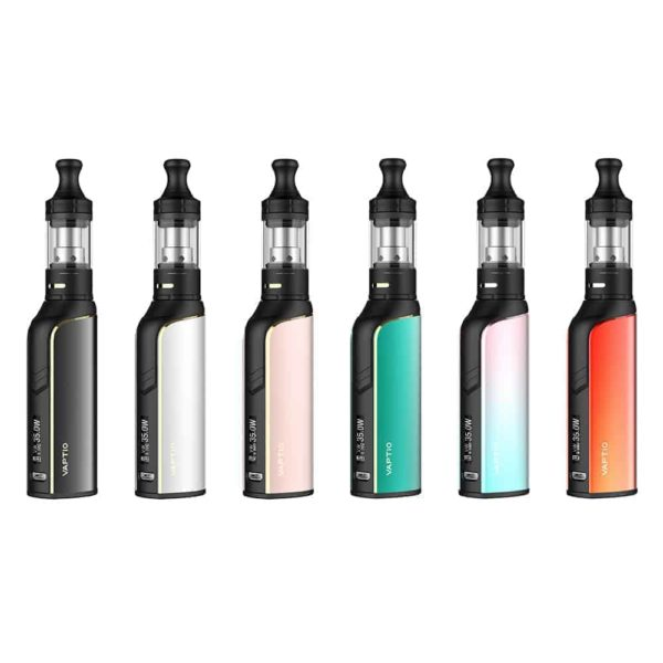Graphic showing all of the different colours that the cosmo plus vape mod is available in