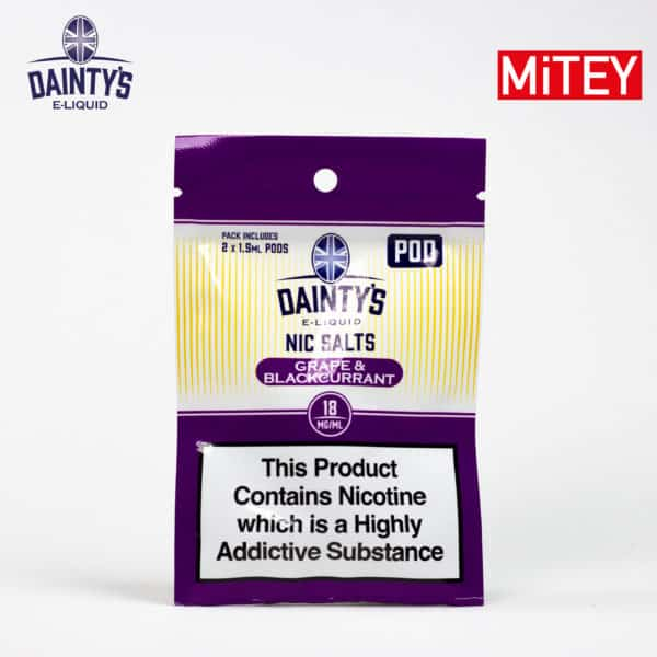 Dainty's Nic Salts Pods Grape & Blackcurrant