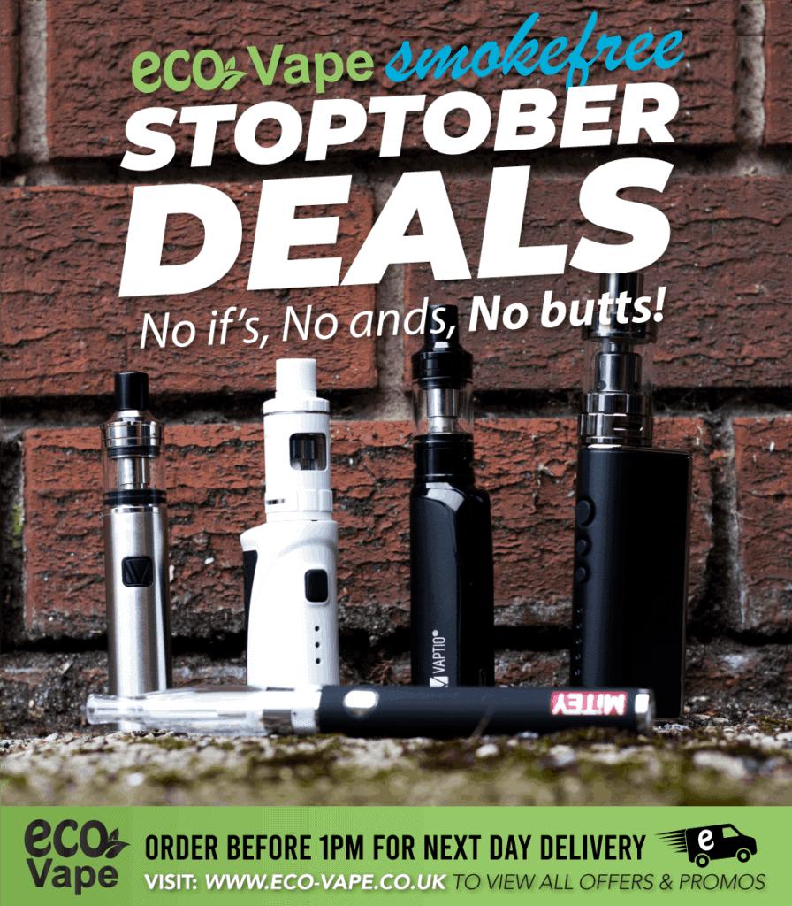 Eco-Vape smoke free Stoptober Deals