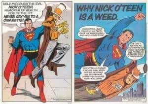 super hero comic strip image