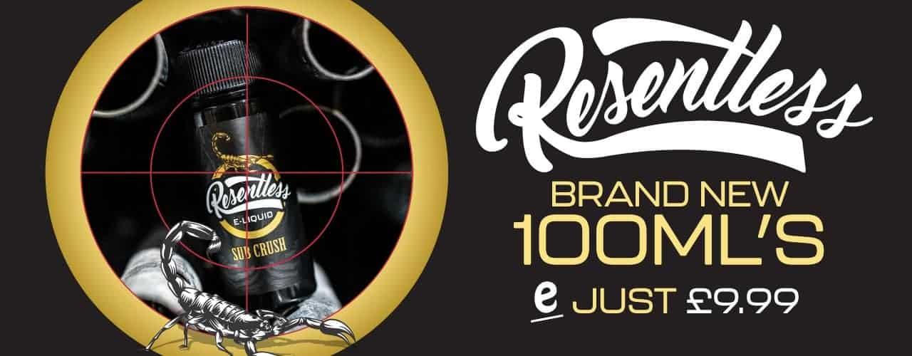 Resentless 100mls brand banner