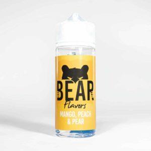 Eco Vape Bear Grizzly Range Mango Peach Pear 100ml